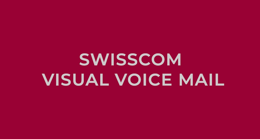 swisscom visual voice mail